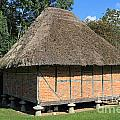 Old Thatched Barn Britain by Julia Gavin