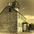 Old Time East Point Light by Joan Carroll