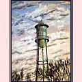 Old Tioga Water Tower Print by Tioga Dan  Sloane