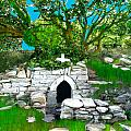 Old Tomb In The Countryside Ireland by Bruce Nutting