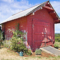 Old Tool Shed Red Barn by Jit Lim
