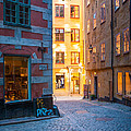 Old Town Alley by Inge Johnsson
