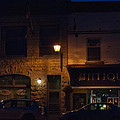 Old Town At Night by Cheryl Baxter