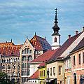 Old Town Buildings In Budapest by Michal Bednarek