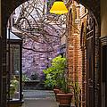 Old Town Courtyard In Victoria British Columbia by Ben and Raisa Gertsberg