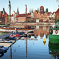 Old Town Of Gdansk Skyline And Marina by Artur Bogacki