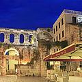 Old Town Of Split At Dusk Croatia by Ivan Pendjakov