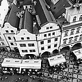 Old Town Square In Prague In Black And White by Matthias Hauser