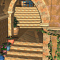 Old Town Stairs And Arches by Judi Suni Hall