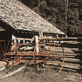 Old Vintage Antique Tractor In Appalachia by Greg Matchick