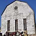 Old Tractor In Front Of Hay Barn by Bill Cannon
