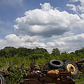 Old Tractor Junkyard by Kathy Clark