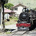 Old Train Engine by Alexey Stiop
