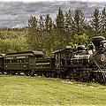 Old Train Steam Engine At The Fort Edmonton Park by Randall Nyhof
