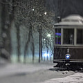 Old Tram On The  Street by Zoriy Fine