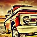 Old Truck Art by Florian Rodarte