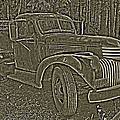 Old Truck In Sepia by Betty Depee