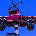 Old Truck With Cross by Garry Gay