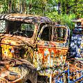 Old Trucks And Old Bicycles by Douglas Barnett