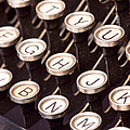 Old Typewriter Keys by Les Palenik