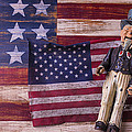Old Uncle Sam And Flag by Garry Gay