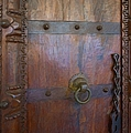 Old Vintage Door With Chain  by Liane Wright