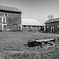 Old Wagon And Barns by Ray Summers Photography