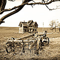Old Wagon And Homestead by Athena Mckinzie