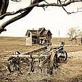 Old Wagon And Homestead II by Athena Mckinzie
