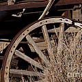 Old Wagon Wheel   #4396 by J L Woody Wooden
