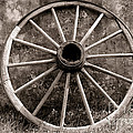 Old Wagon Wheel by Olivier Le Queinec