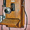 Old Wall Telephone by Les Palenik