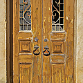Old Weathered Brown Wood Door Of Portugal by David Letts