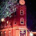 Old Wedge Bank  Building  Haunted Alton Ill by Peggy Franz