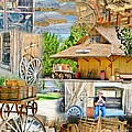 Old West Collage by Marilyn Diaz