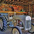 Old White Ford Tractor by Randy Harris