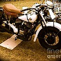 Old White Motorcycle by Chris W Photography AKA Christian Wilson
