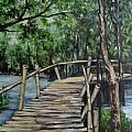 Old Wood Bridge by Peter Paul Christian Mahilum