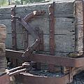 Old Wood  Mining Ore Car by Ernie Echols