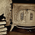 Old Wood Stove by Berkehaus Photography