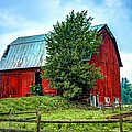 Old Wooden Barn  by Phil Deets