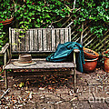 Old Wooden Garden Bench  by Sheila Smart Fine Art Photography
