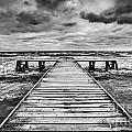 Old Wooden Jetty During Storm On The Sea by Michal Bednarek