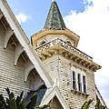 Old Wooden Victorian Chapel Church Steeple Fine Art Landscape Photography Print by Jerry Cowart