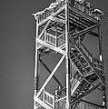 Old Wooden Watchtower Key West - Black And White by Ian Monk