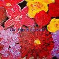 Old World Flowers  by Gerri Bain