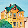 Old Yellow House In Downtown Oakland by Asha Carolyn Young