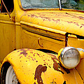 Old Yellow Truck by Art Block Collections