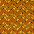 Olive Green And Orange Chevron Collage by Michelle Calkins