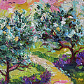 Impressionist Olive Trees And Lavender Path by Ginette Callaway